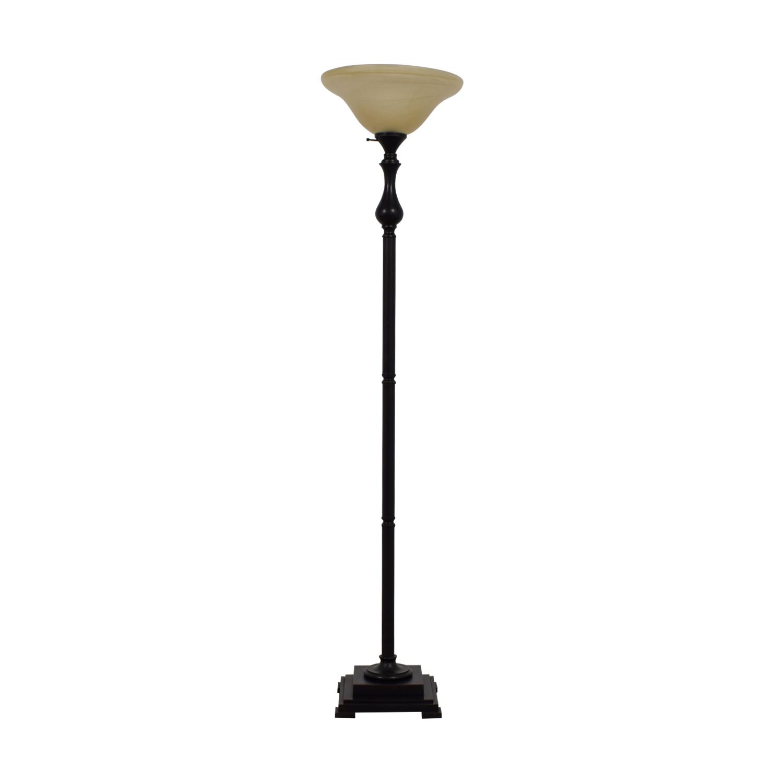 Torchiere Black Floor Lamp discount