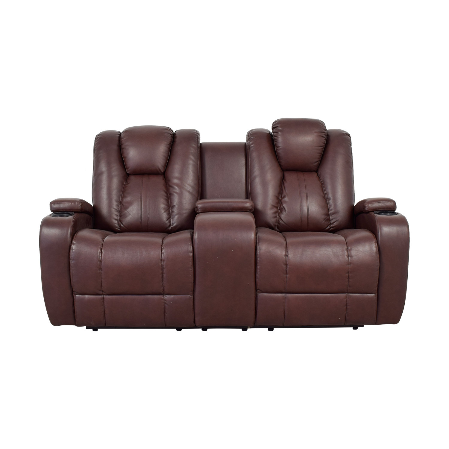 Bob's Furniture Bob's Furniture Brown Power Dual Reclining Console Loveseat used