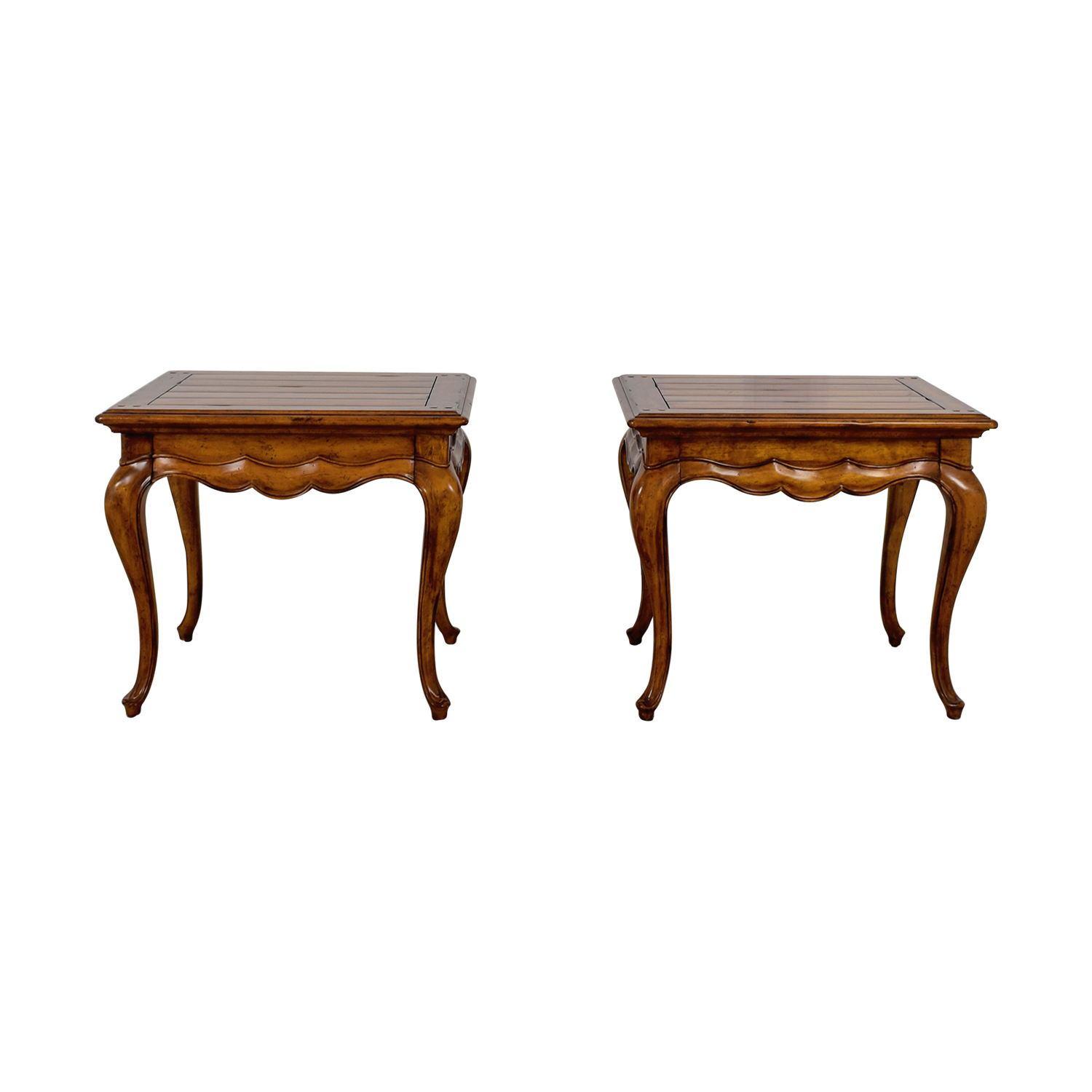 Thomasville Dovetailed Wood End Tables / End Tables