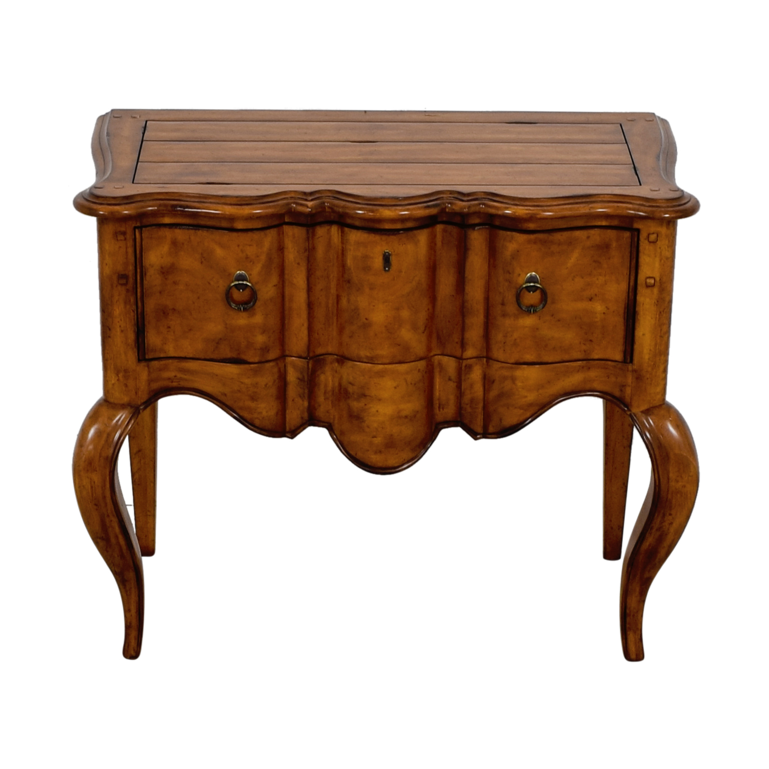 Pennsylvania House Curved Dovetailed Single Drawer Accent Table On