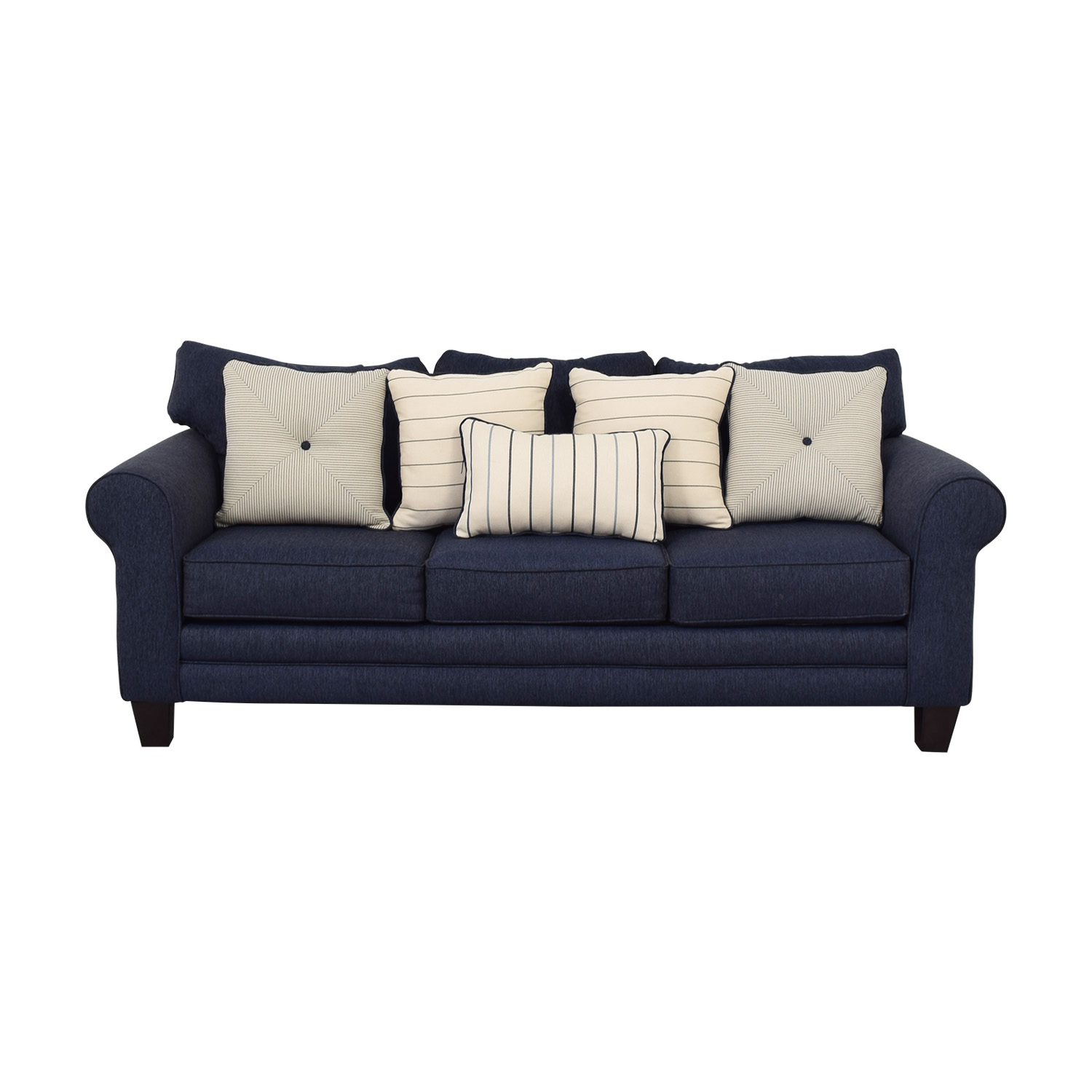 Raymour & Flanigan Raymour & Flanigan Navy Three-Cushion Sofa coupon