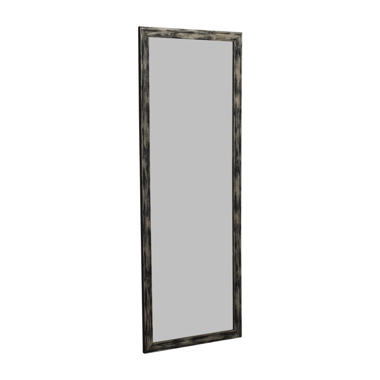 shop Distressed Brazilian Bamboo Framed Floor Mirror  Sofas