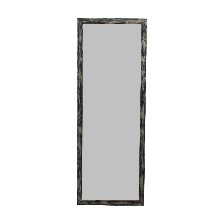 Distressed Brazilian Bamboo Framed Floor Mirror used
