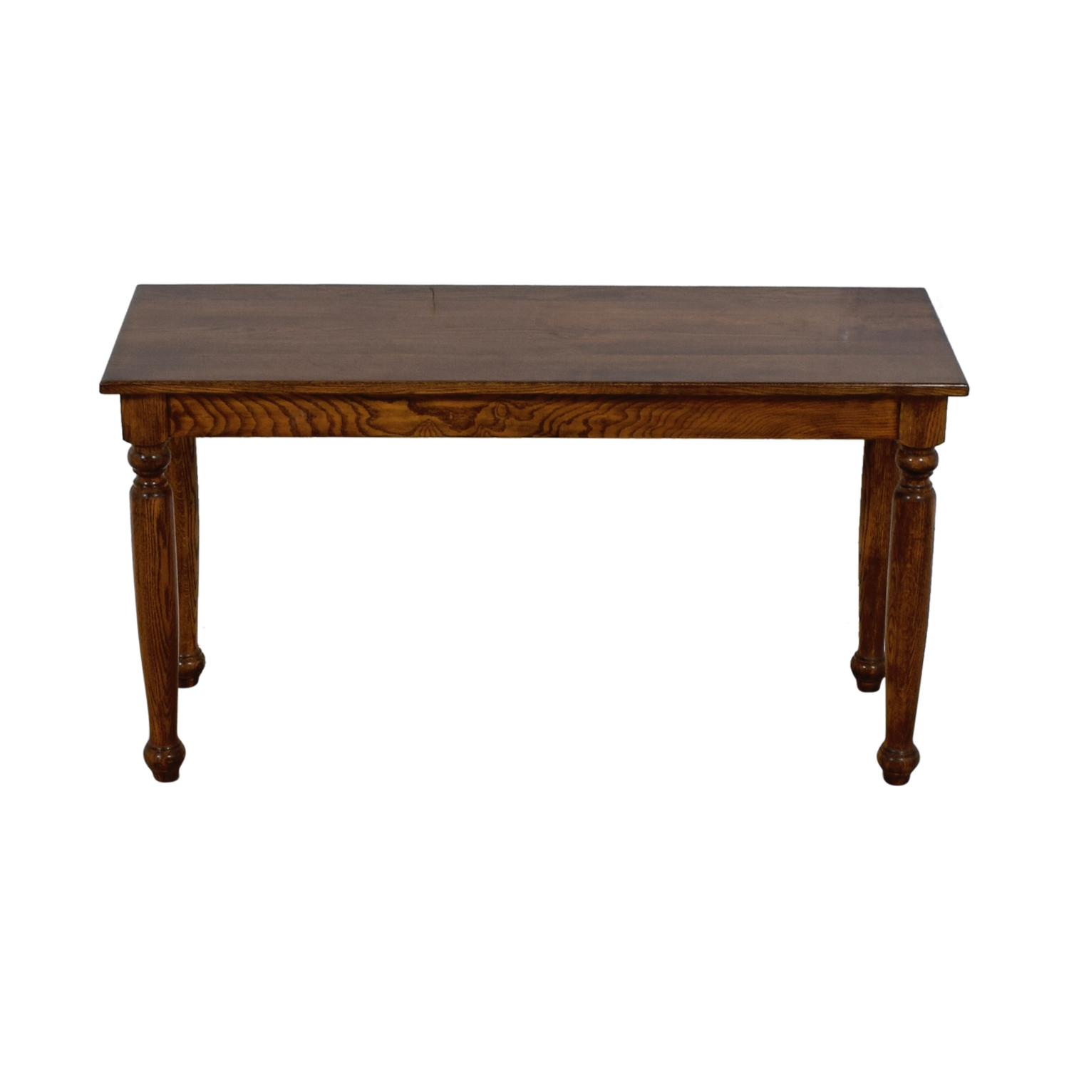 Vintage Wood Foyer Console Table second hand