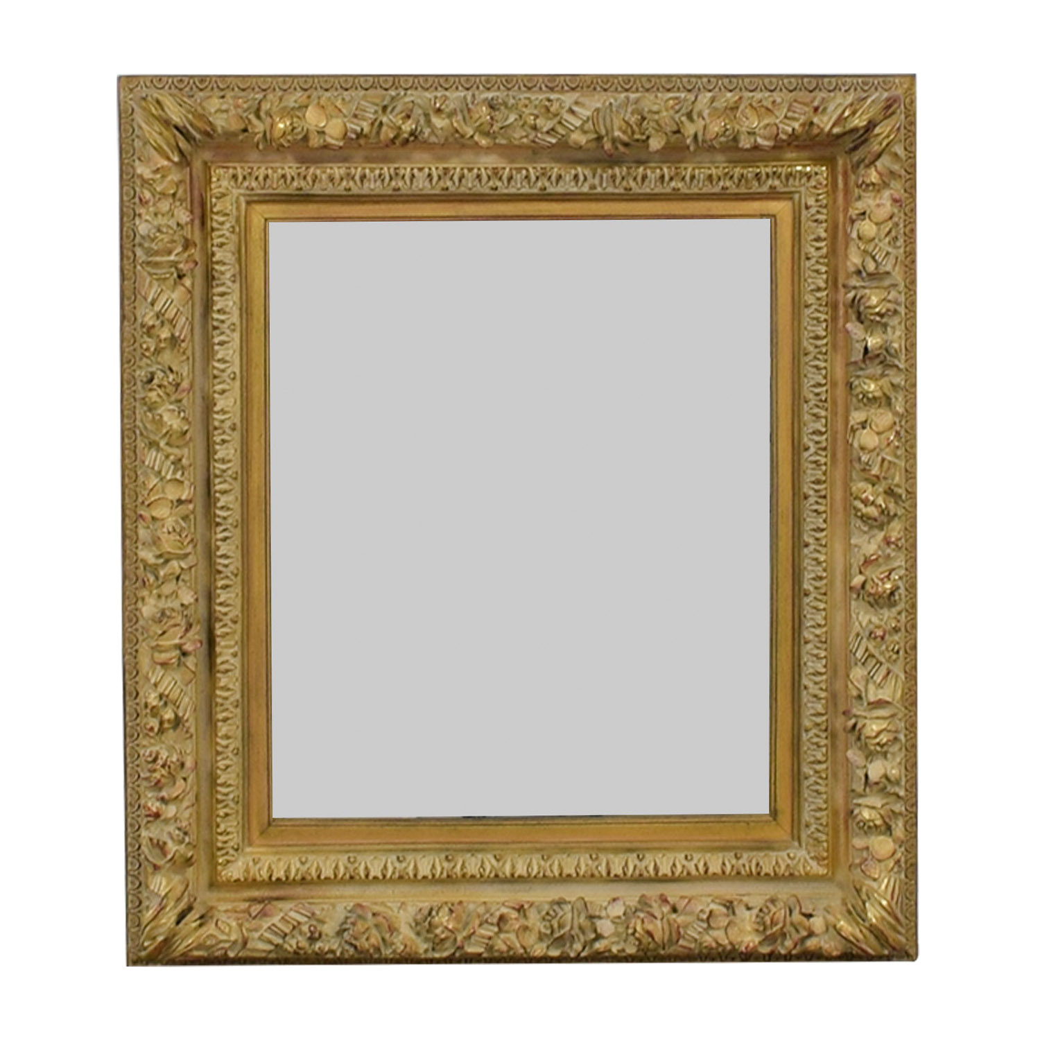 Bombay Home Decor Bombay Home Decor Gold Framed  Wall Mirror Cream