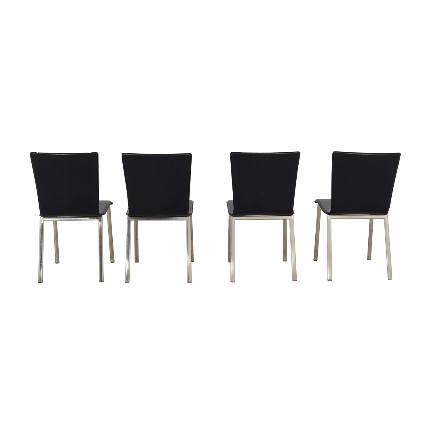 ... buy IKEA Black with Chrome Dining Chairs IKEA Dining Chairs ...  sc 1 st  Furnishare & 71% OFF - IKEA IKEA Black with Chrome Dining Chairs / Chairs