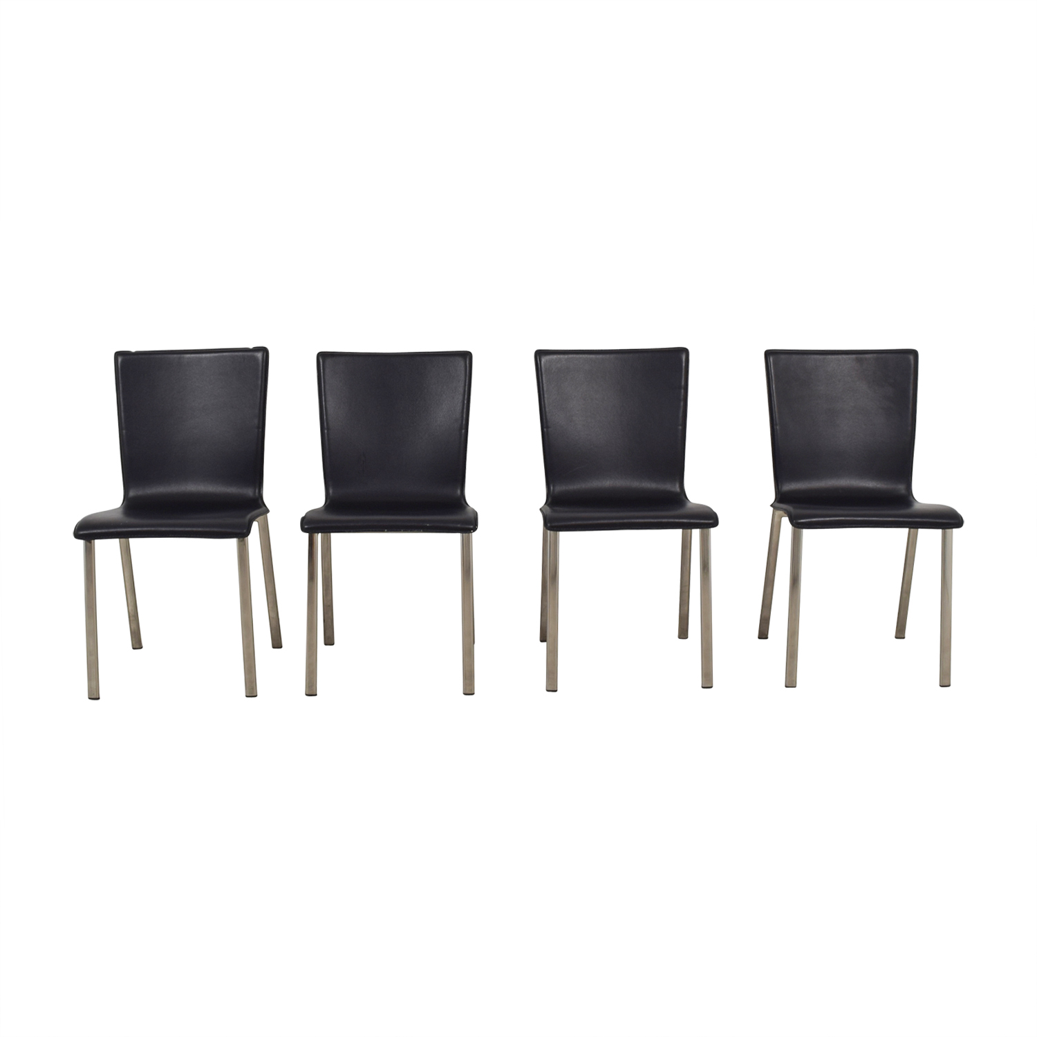 IKEA IKEA Black with Chrome Dining Chairs second hand