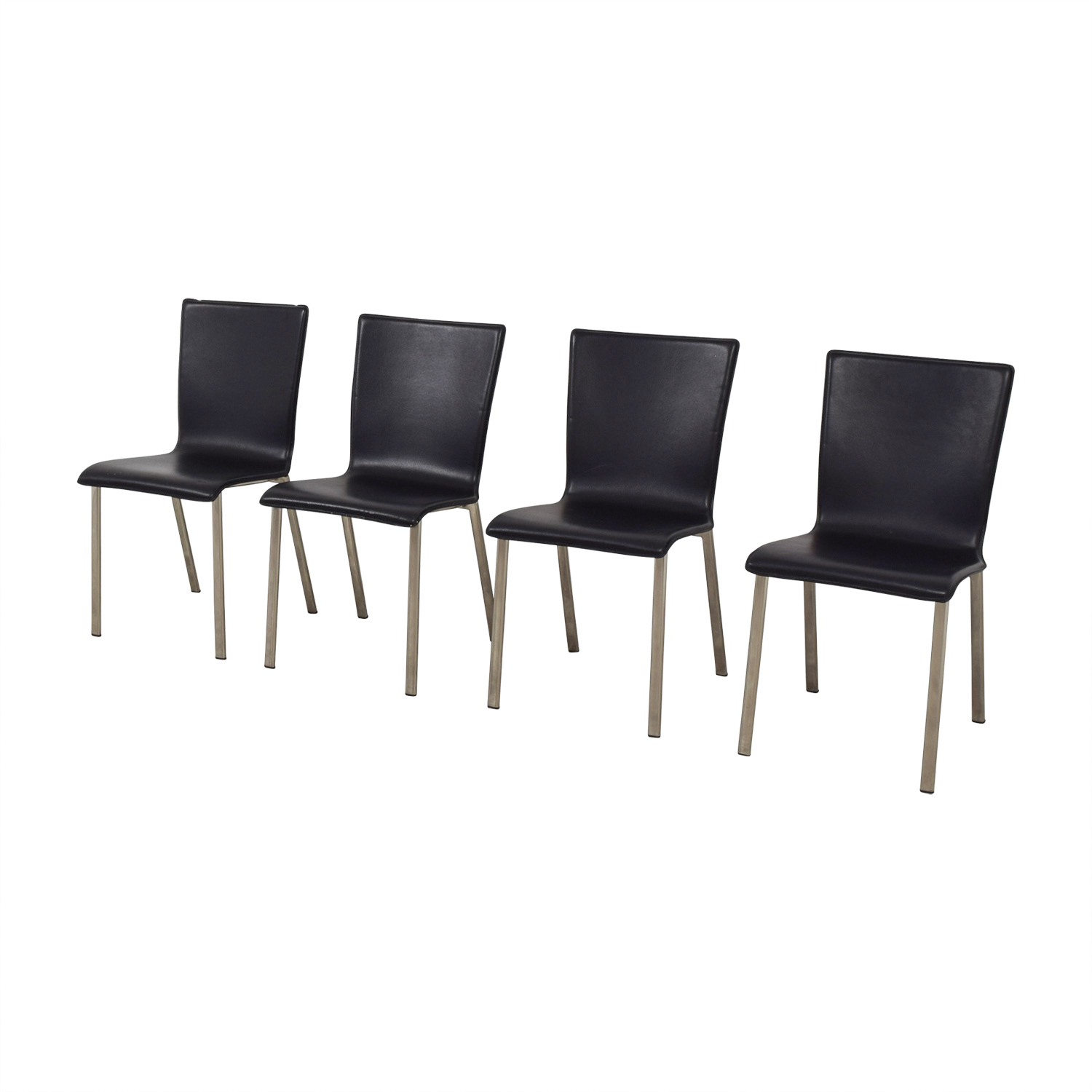 IKEA Black with Chrome Dining Chairs sale