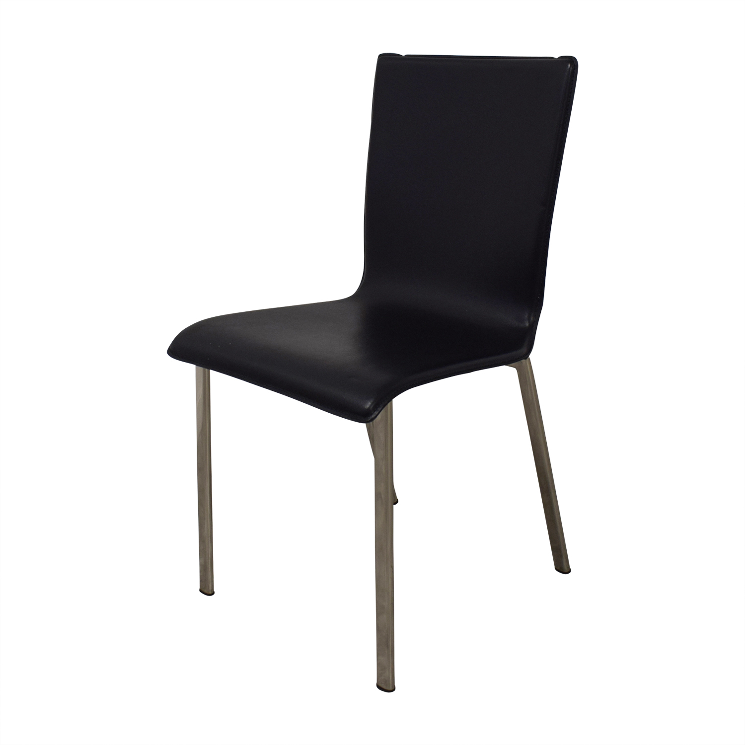 82 Off Ikea Ikea Black With Chrome Dining Chairs Chairs