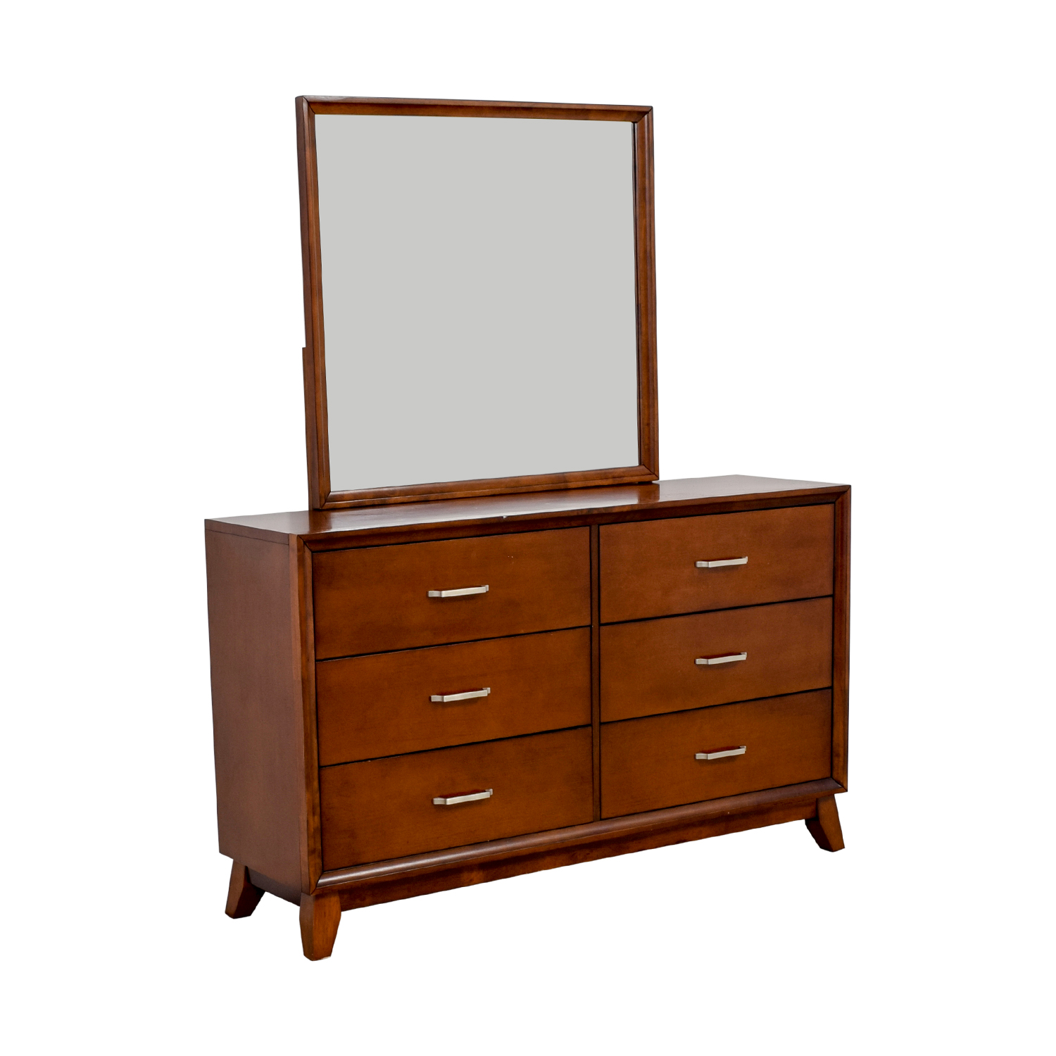 shop Home Elegance Soren Six-Drawer Dresser with Mirror Home Elegance