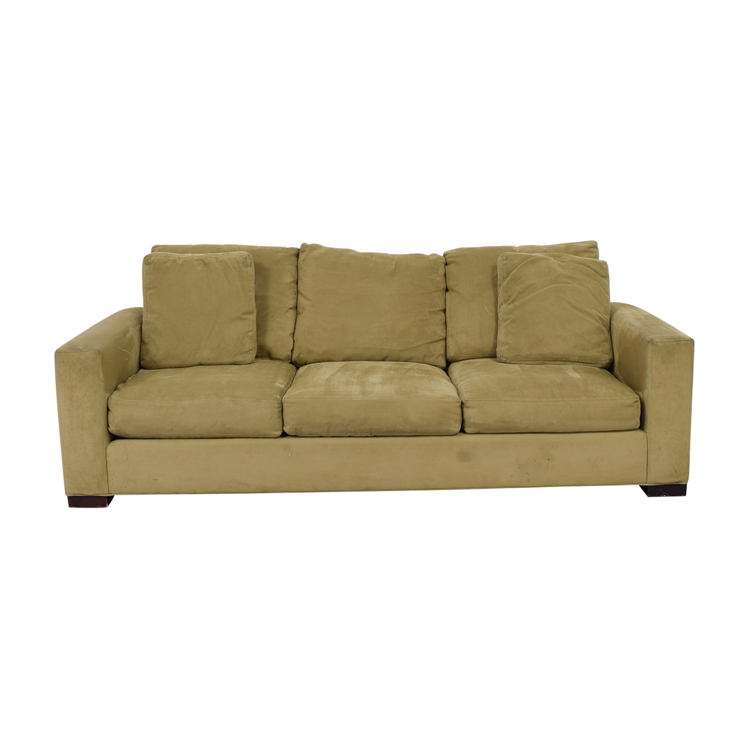Room & Board Room & Board Metro Beige Three-Cushion Sofa dimensions