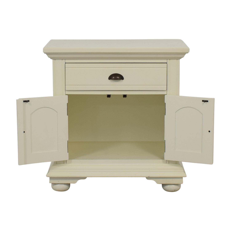 buy White Single-Drawer Night Table