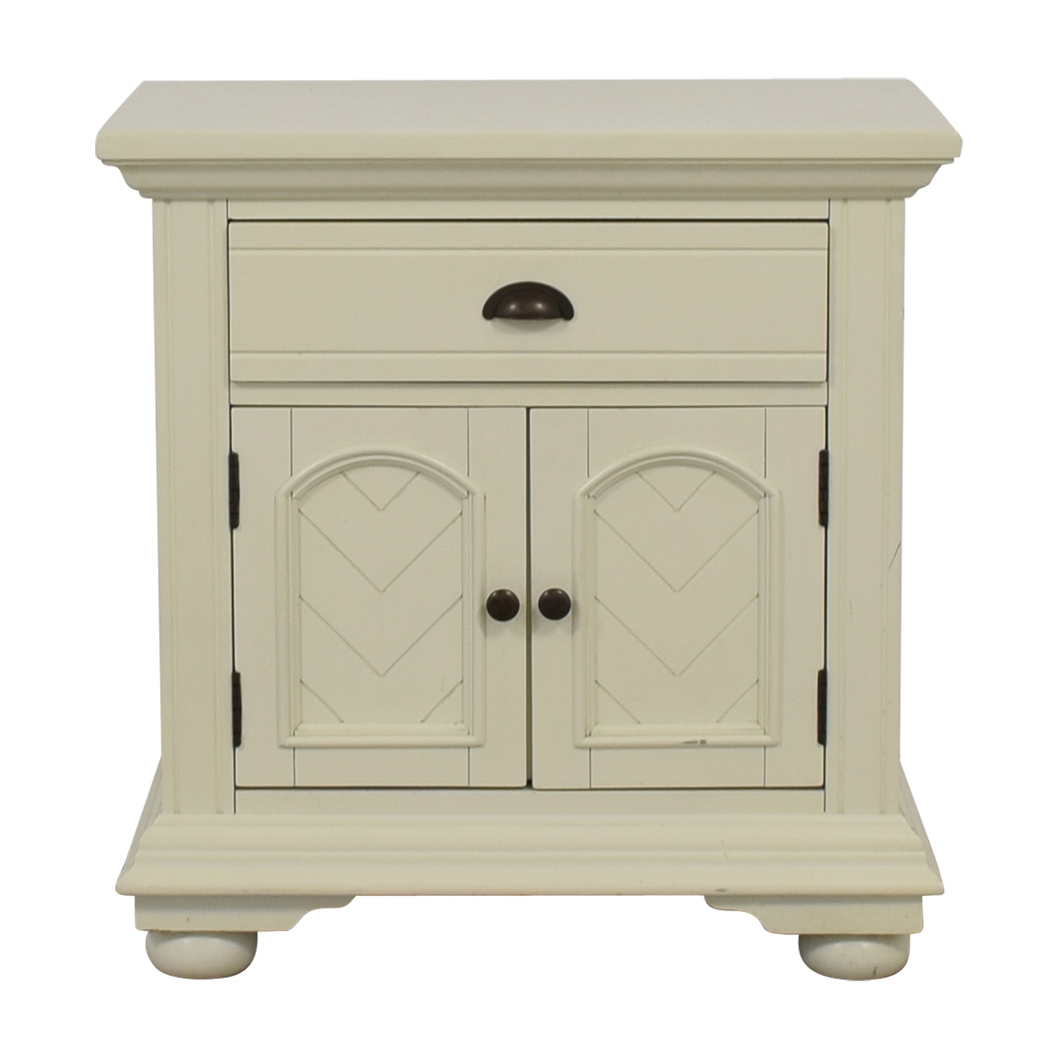 White Single-Drawer Night Table dimensions
