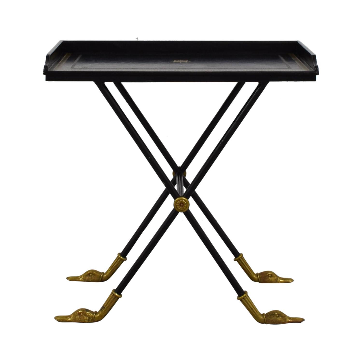 Black with Gold Trim Bar Tray