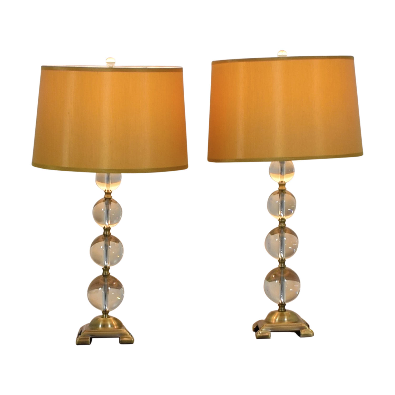 Neiman Marcus Neiman Marcus Crystal Ball Table Lamp for sale