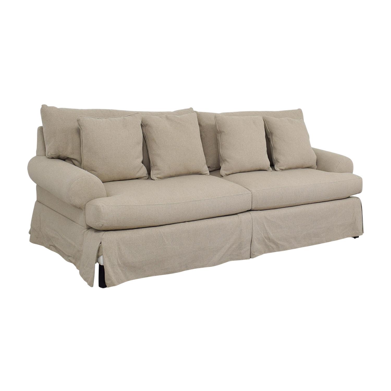 Delicieux ... Neiman Marcus Keystone Grey Two Cushion Sofa / Sofas ...
