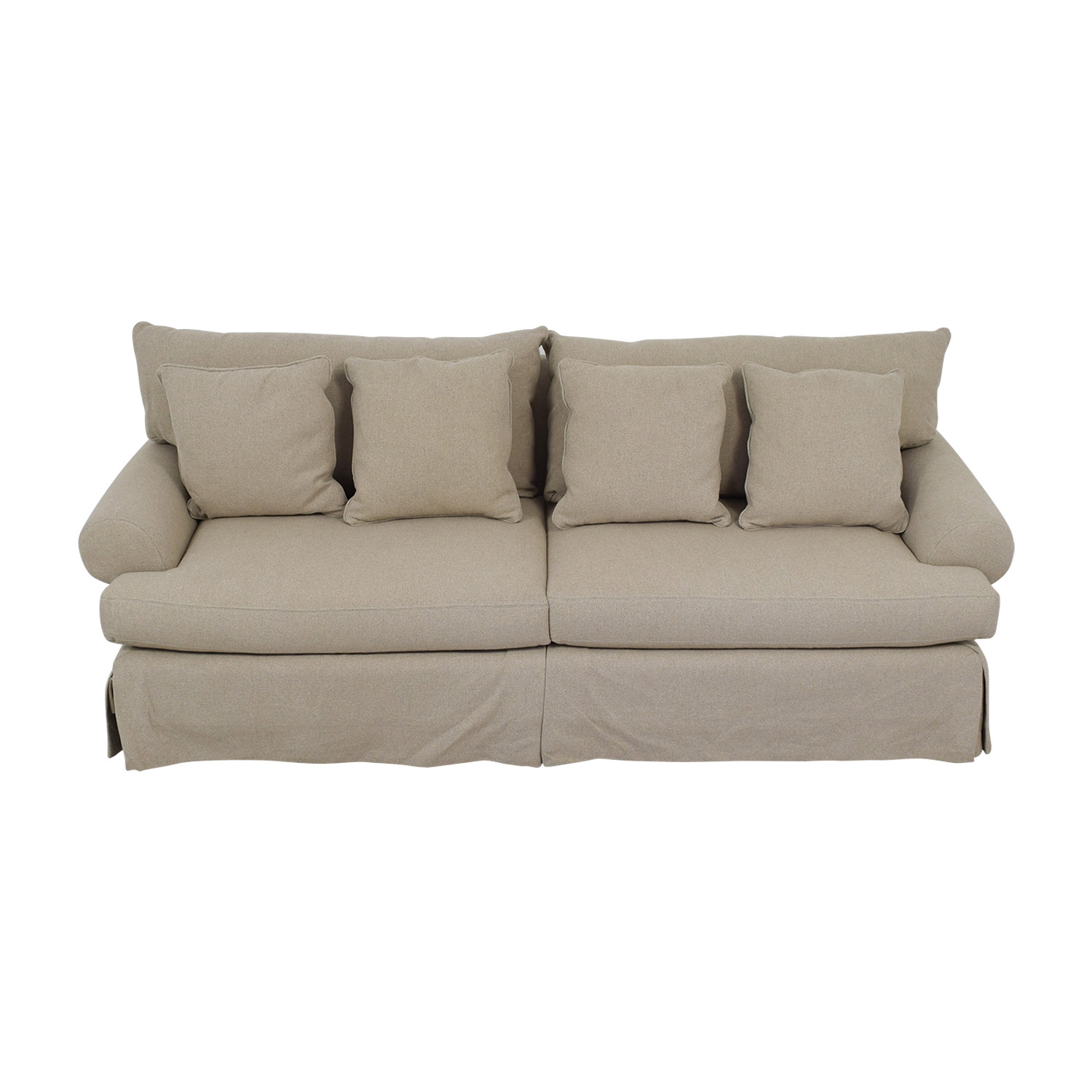 Neiman Marcus Neiman Marcus Keystone Grey Two-Cushion Sofa nyc