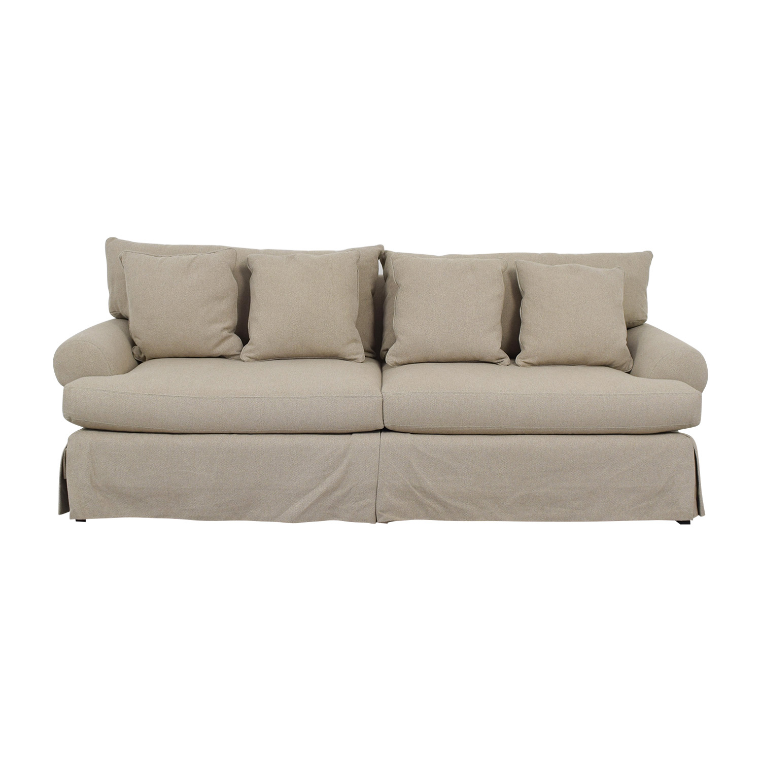Neiman Marcus Neiman Marcus Keystone Grey Two-Cushion Sofa dimensions