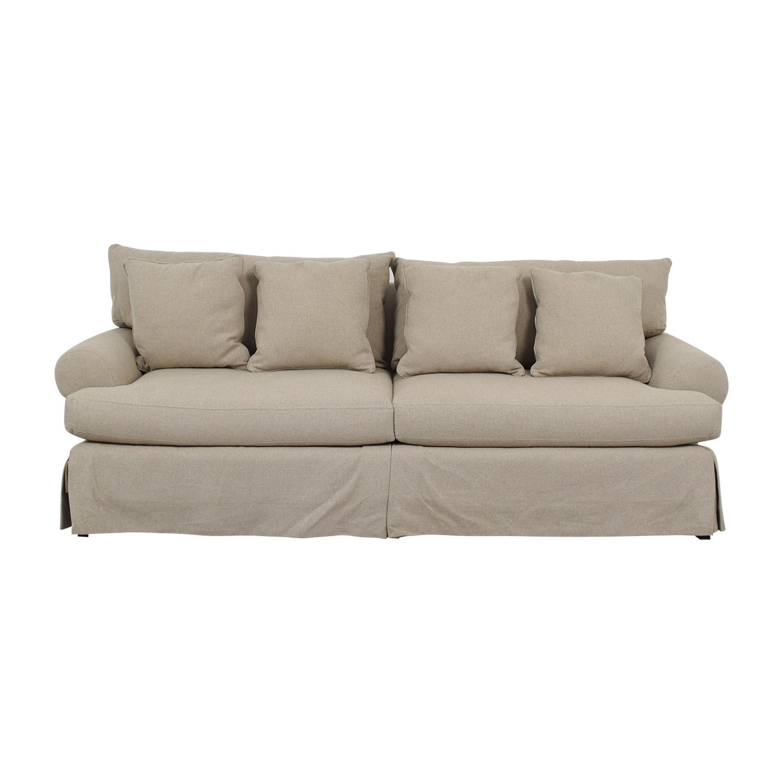 81 Off Neiman Marcus Neiman Marcus Keystone Grey Two Cushion Sofa Sofas