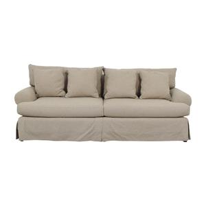 shop Neiman Marcus Keystone Grey Two-Cushion Sofa Neiman Marcus
