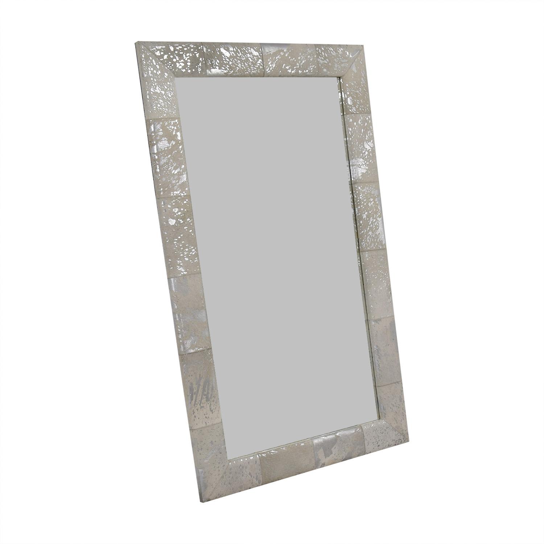 Horchow Horchow Aldo Silver Hairhide Standing Floor Mirror price