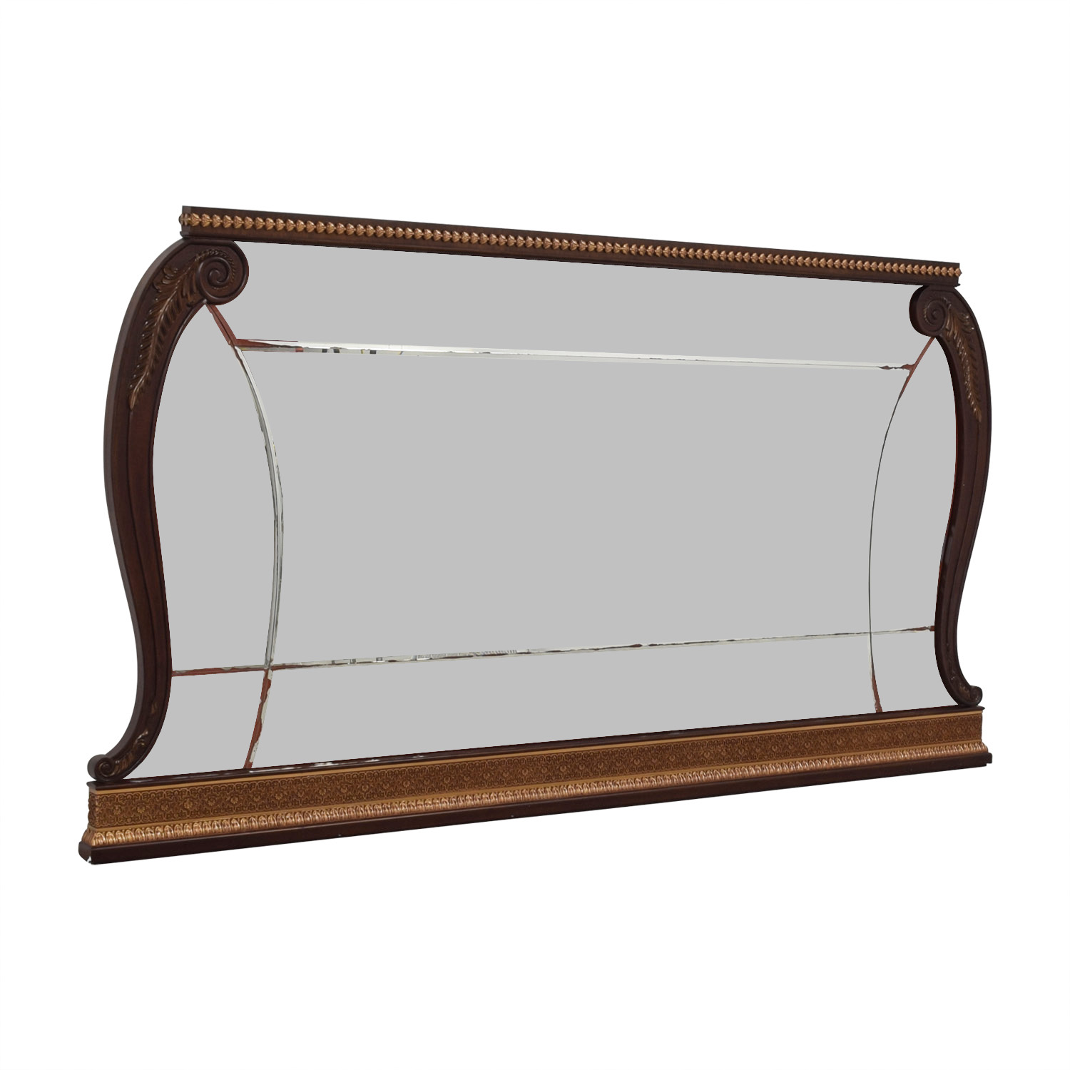 buy  Hardwood Carved Frame with Distressed Mirror online