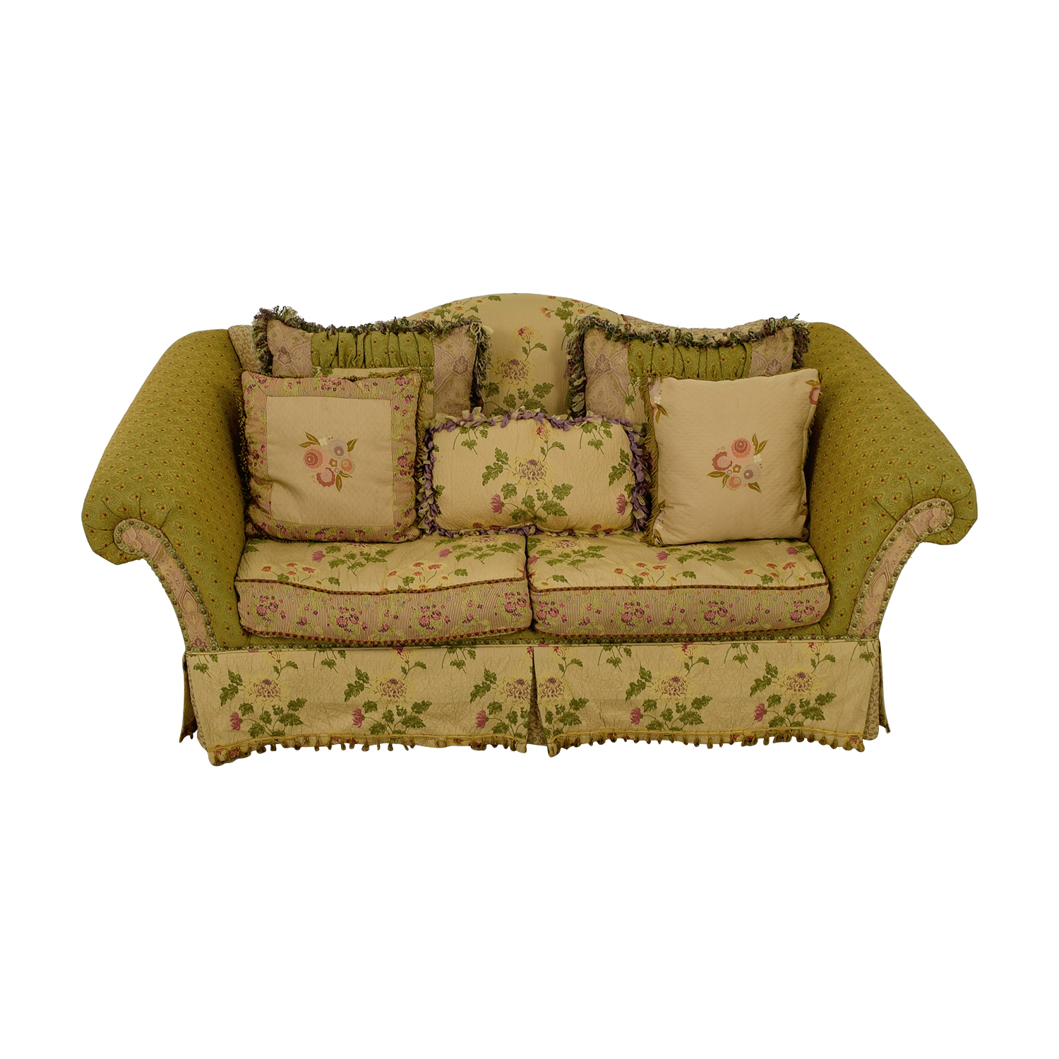 Domain Domain Down Filled Floral Green Two-Cushion Sofa price