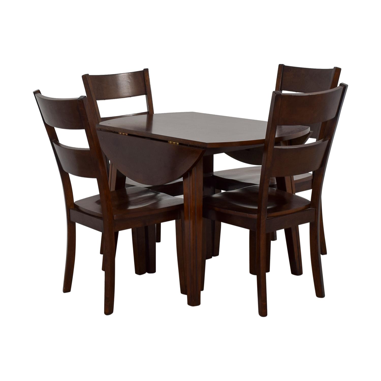 61 Off Bob S Discount Furniture Bob S Furniture Drop Leaf Dining Set Tables