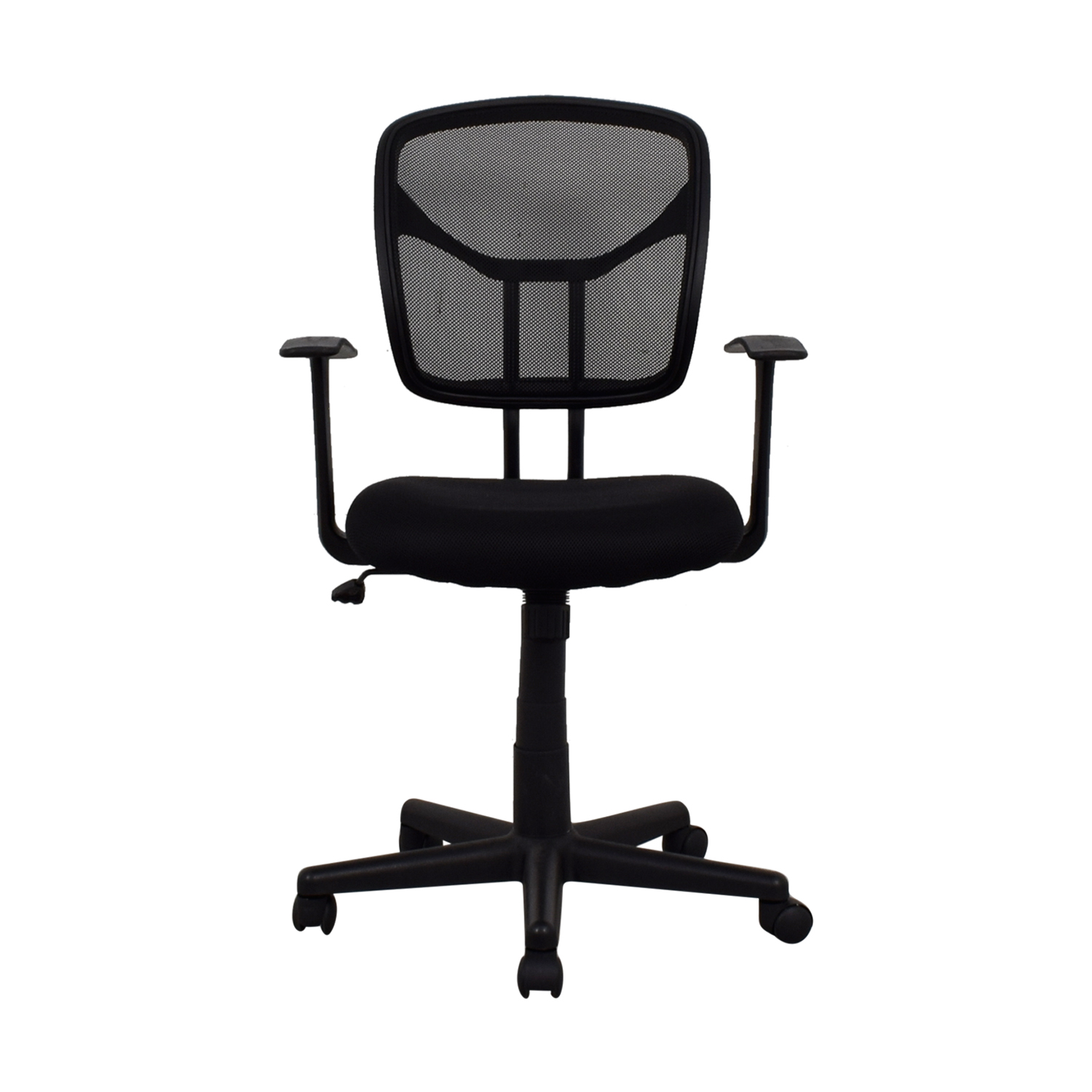 90 Off Black Rolling Office Chair Chairs
