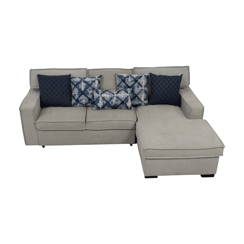 shop Bob's Furniture Gray Chaise Storage Sectional Bob's Furniture