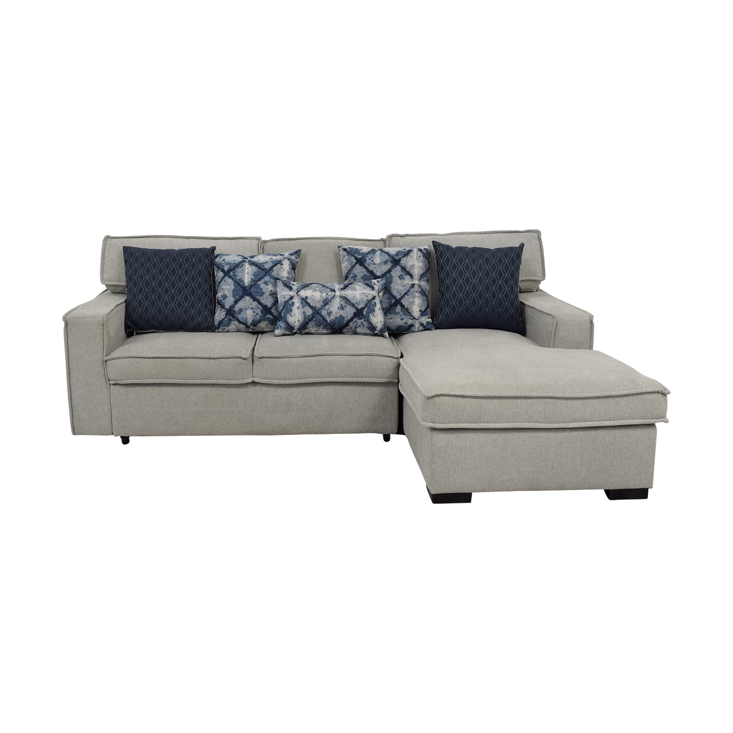 Bob's Furniture Bob's Furniture Gray Chaise Storage Sectional used