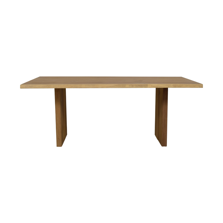 Restoration Hardware Restoration Hardware Natural Rustic Dining Table discount