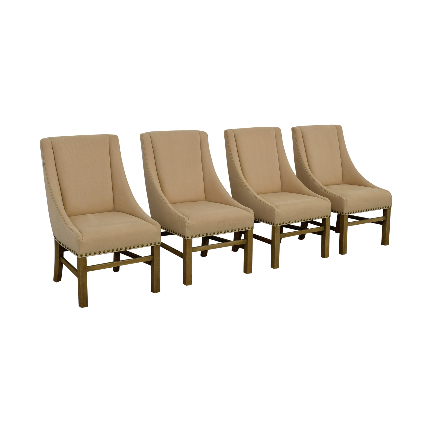 ... Restoration Hardware Restoration Hardware Beige Nailhead Dining Chairs  Coupon ...