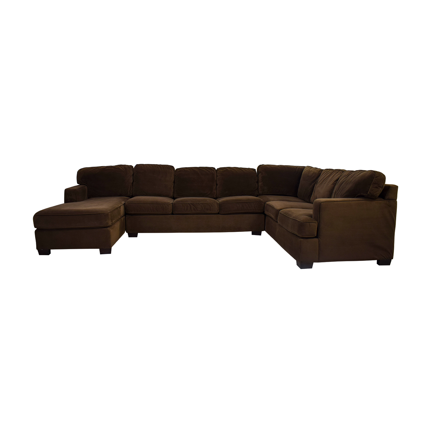 Bloomingdale's Bloomingdale's Brown Microsuede L-Shaped Chaise Sectional price