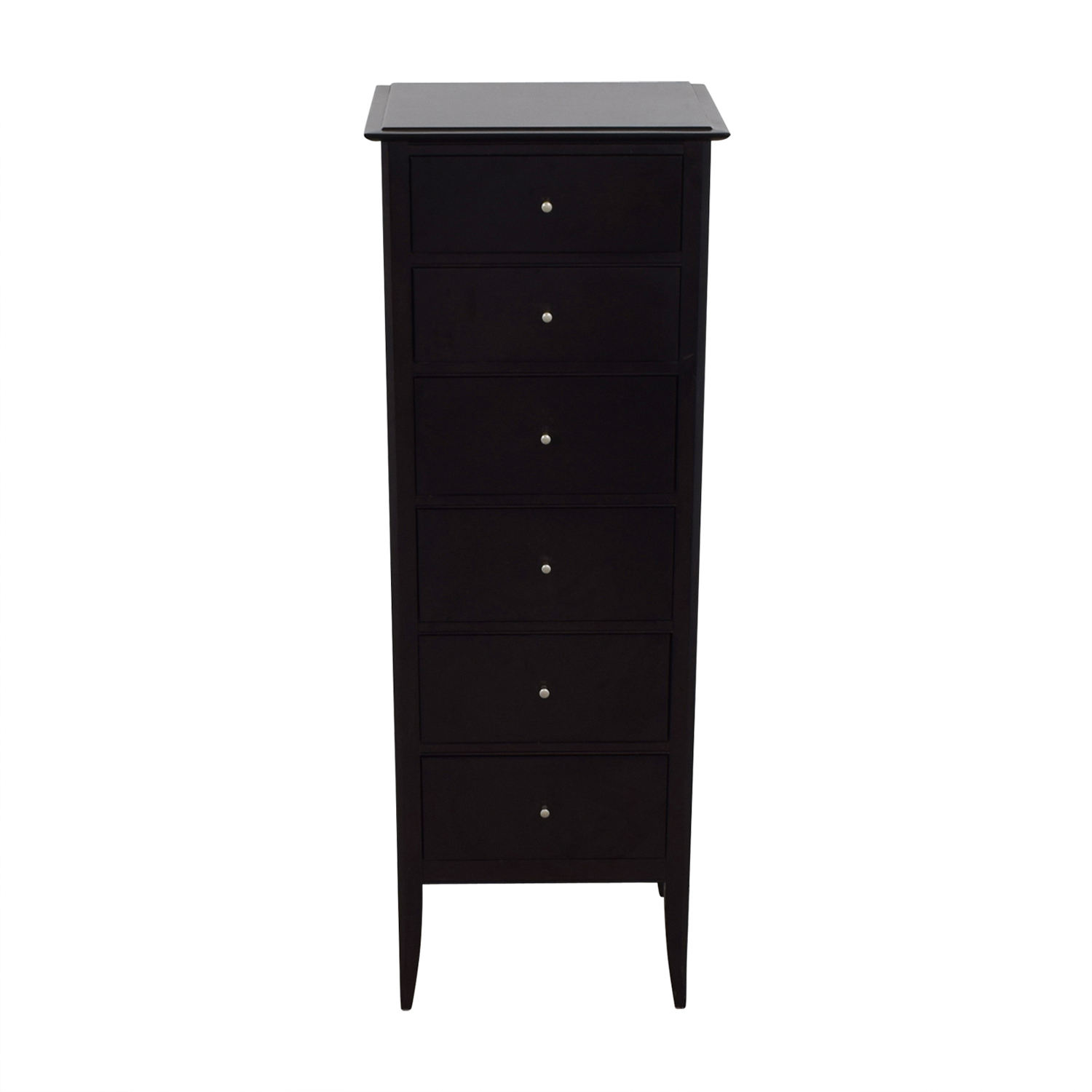 Crate & Barrel Black Six-Drawer Tall Dresser sale