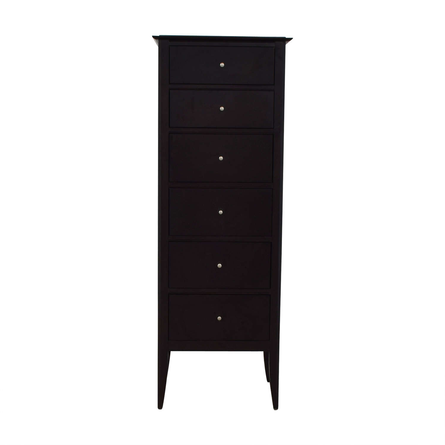 shop Crate & Barrel Black Six-Drawer Tall Dresser Crate & Barrel Sofas
