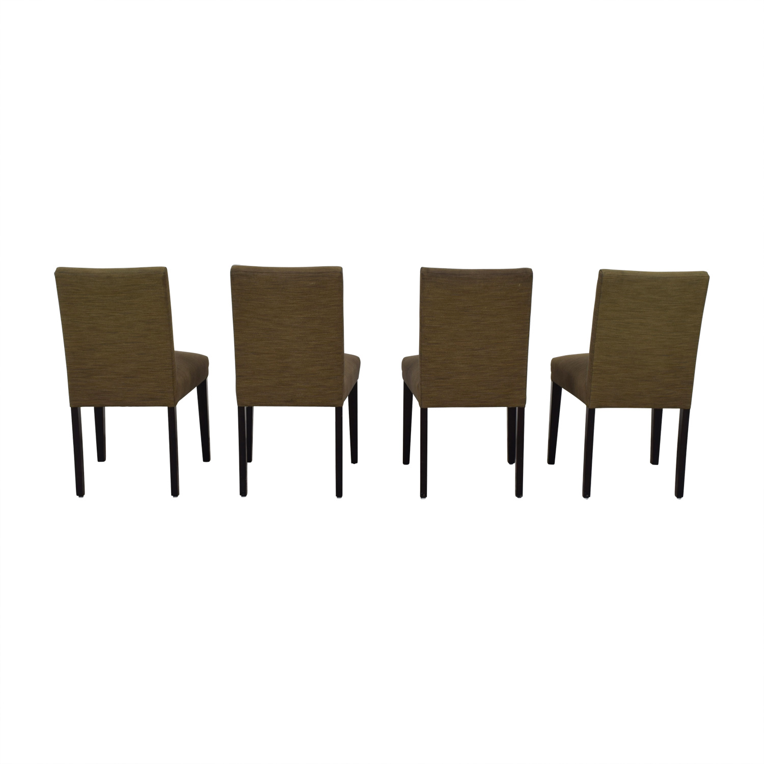 Room & Board Room & Board Brown Upholstered Dining Chairs nyc