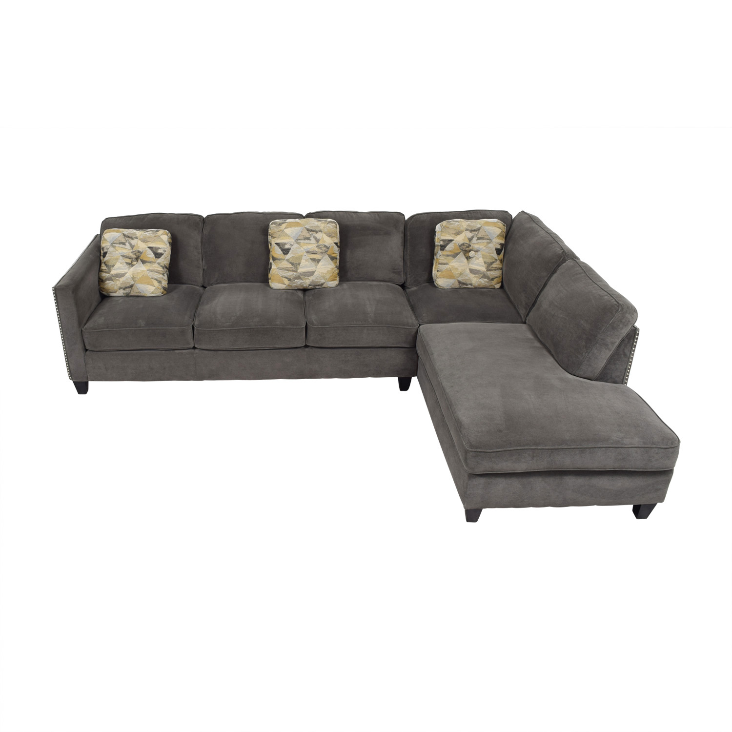 Brayden Studio Baugh Grey Chaise Sectional Brayden Studio