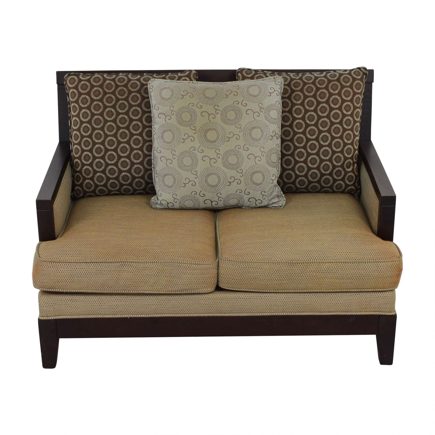 shop Raymour & Flanigan Raymour & Flanigan Wooden Loveseat online