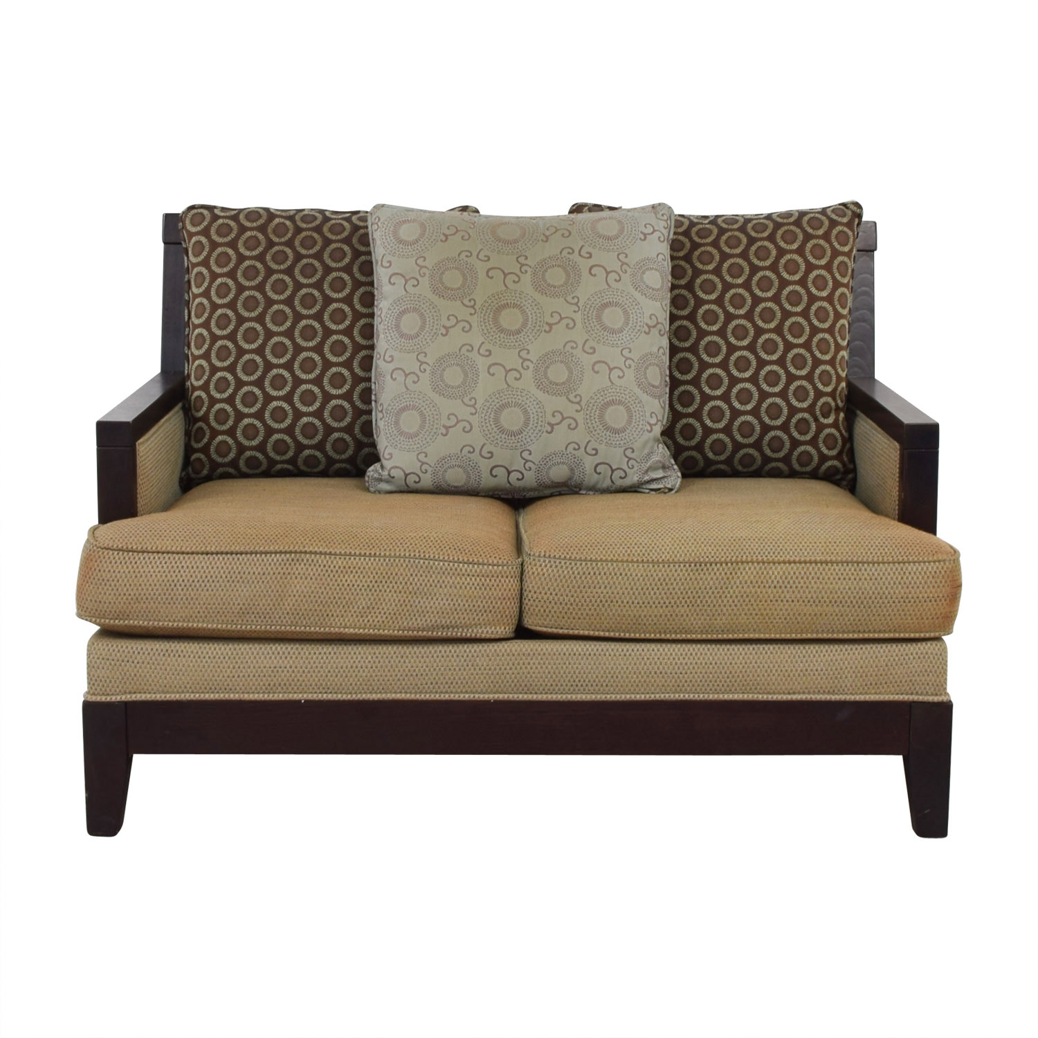 buy Raymour & Flanigan Wooden Loveseat Raymour & Flanigan Loveseats