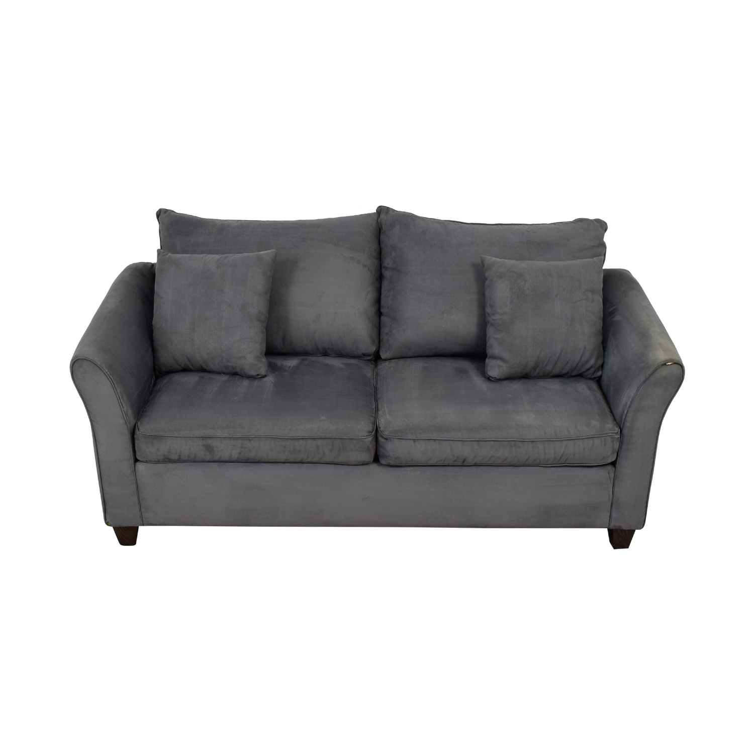 Younger Furniture Younger Furniture Grey Microsuede Love Seat for sale