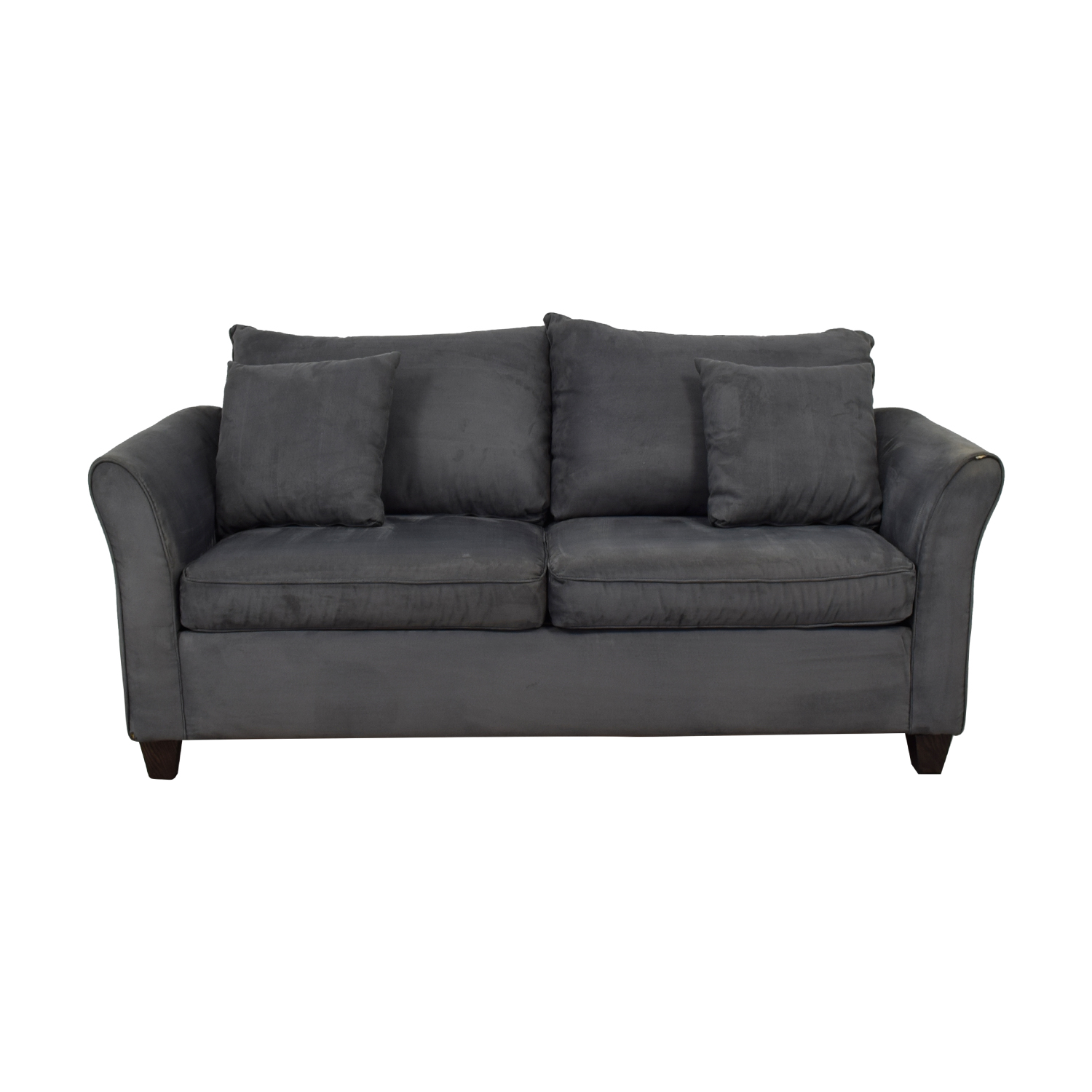 Younger Furniture Younger Furniture Grey Microsuede Love Seat nyc