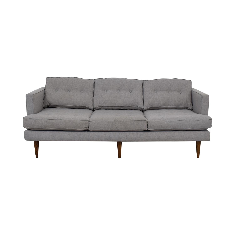 West Elm Peggy Grey Tufted Sofa / Classic Sofas