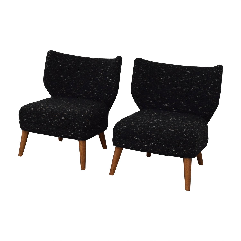 West Elm West Elm Retro Blue Wing Chairs discount