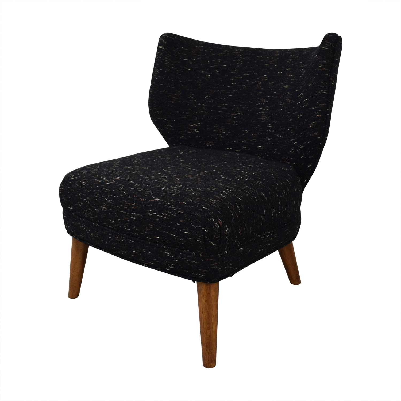 shop West Elm Retro Blue Wing Chairs West Elm Chairs