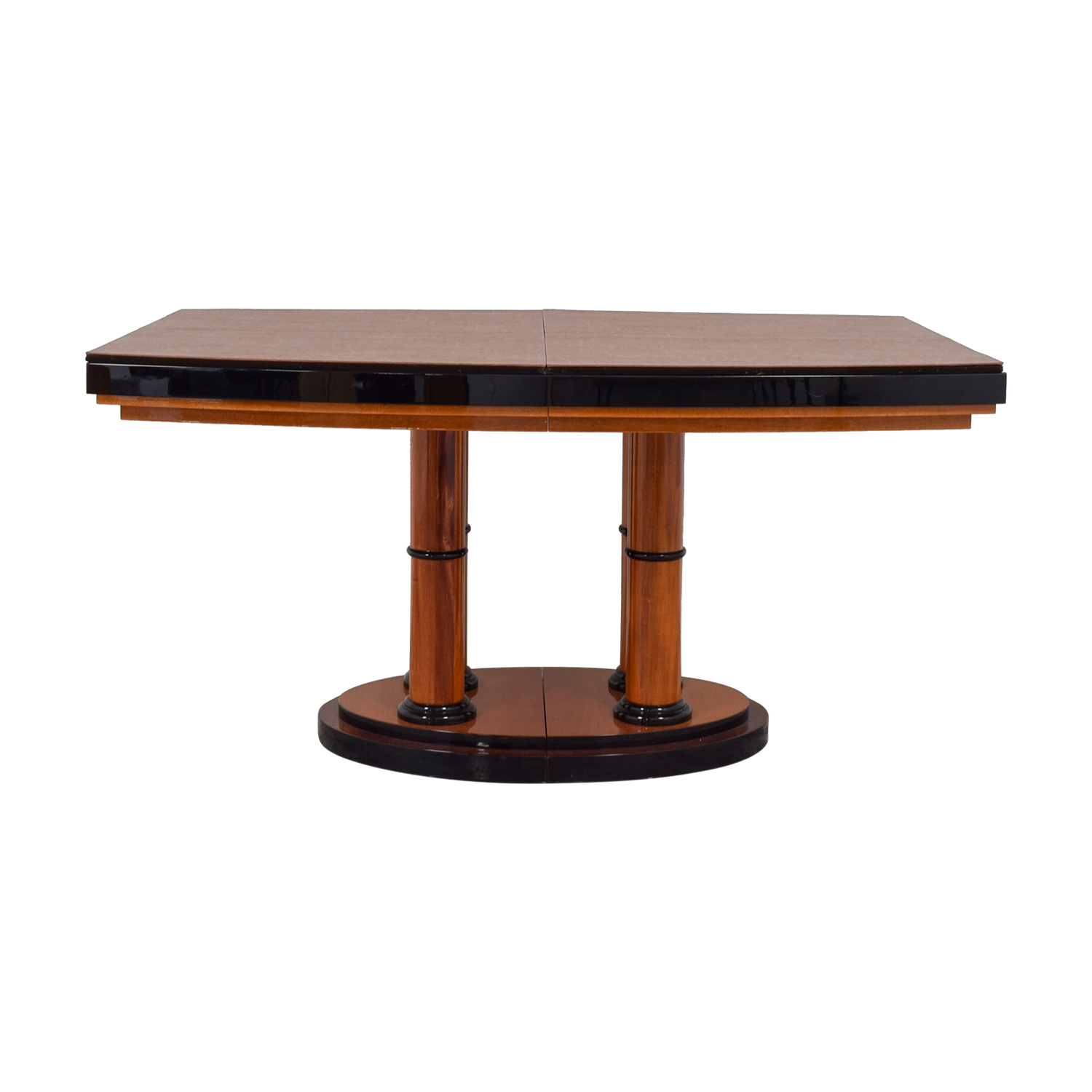 Manhattan Cabinetry Manhattan Cabinetry Custom Expandable Dining Table brown black trim