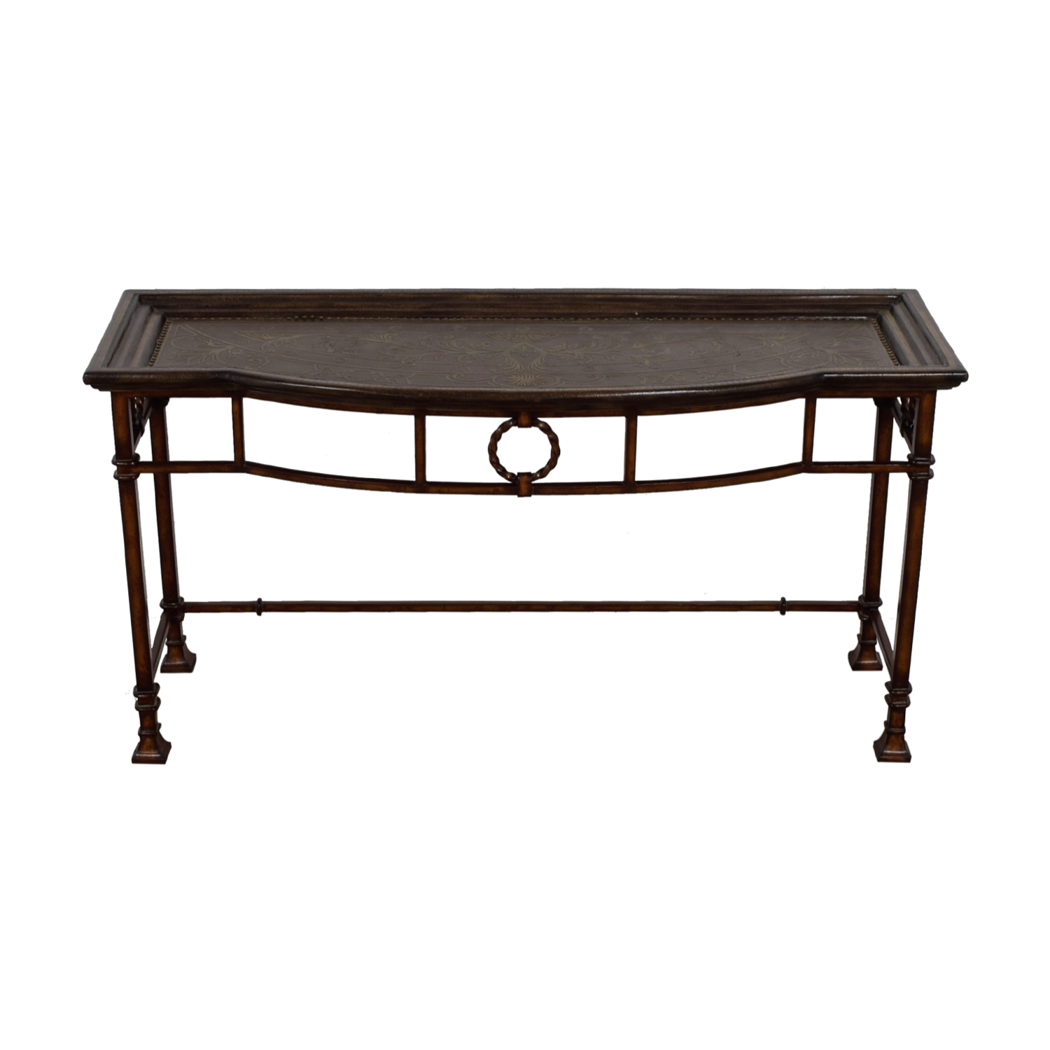 Carved Wood Console Table dimensions