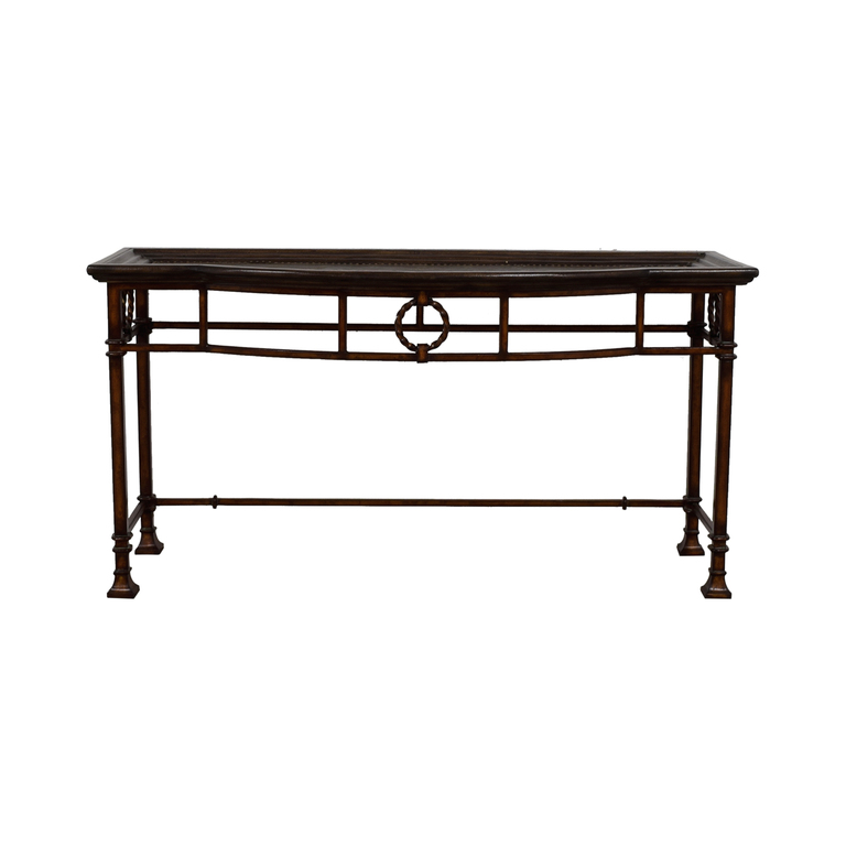 Carved Wood Console Table / Tables