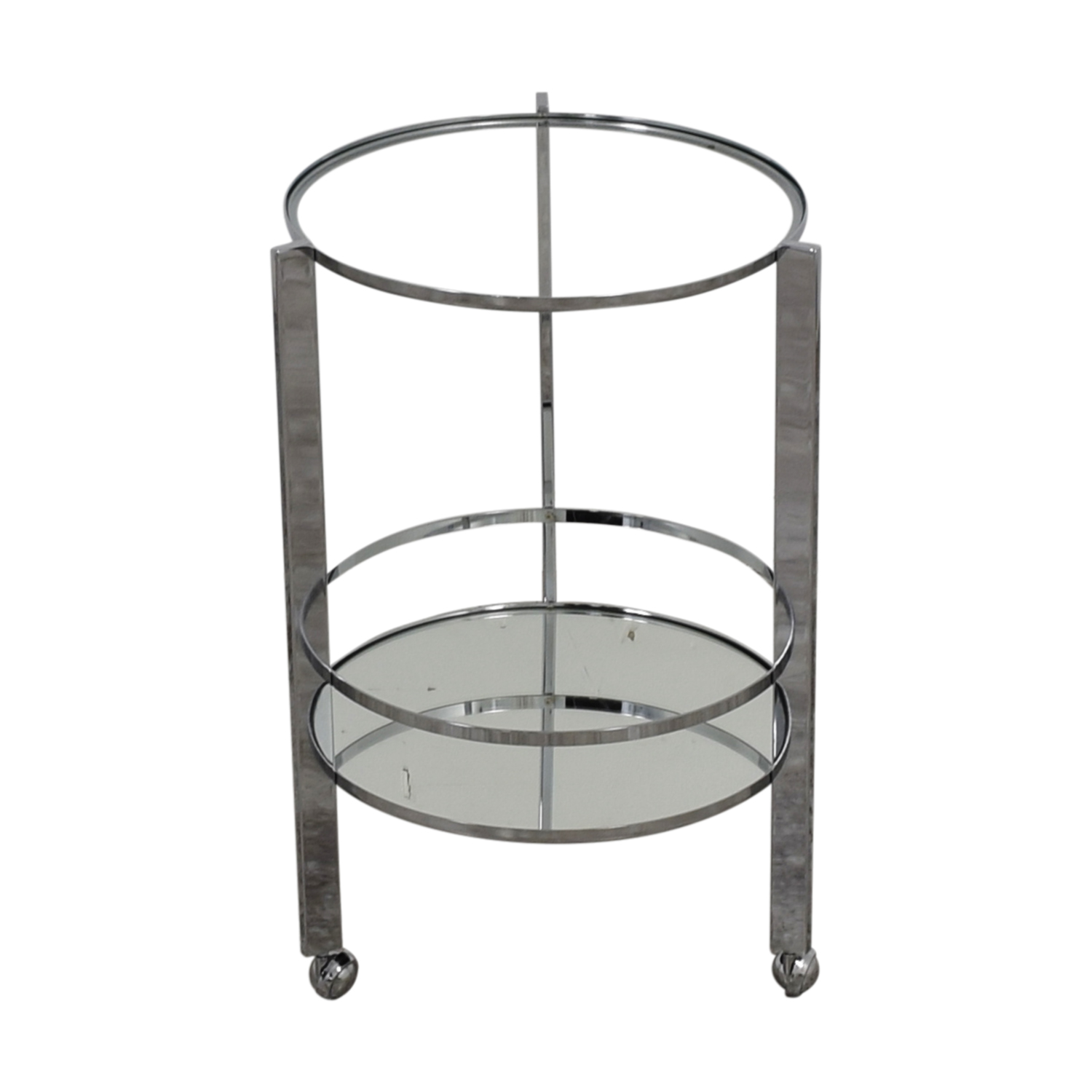 CB2 CB2 Ernest Chrome And Mirror Bar Cart nyc