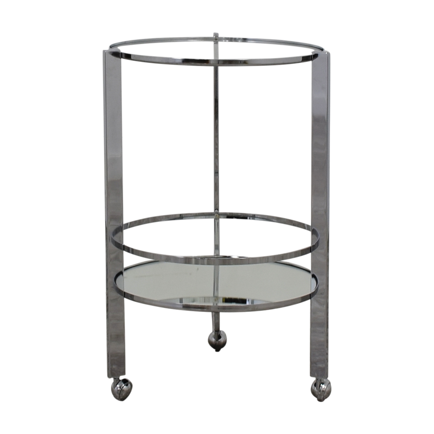 CB2 CB2 Ernest Chrome And Mirror Bar Cart coupon